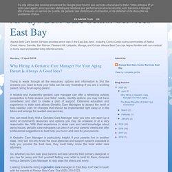 Geriatric care East Bay CA