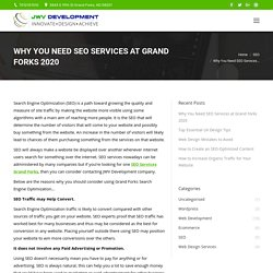 Why You Need SEO Services at Grand Forks 2020 - JWV Development