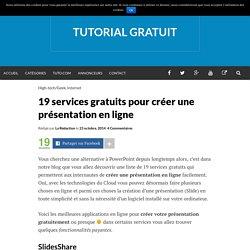 19 services gratuits pour créer une présentation en ligne
