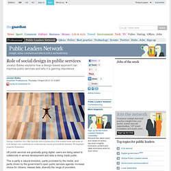 Role of social design in public services