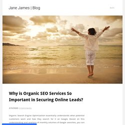 Know the Importance of Productive Organic SEO Services