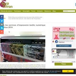 Tous les services d'impression textile numérique – édition 2014