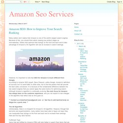 Amazon Seo Services: Amazon SEO: How to Improve Your Search Ranking