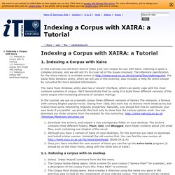 [IT Services] - Indexing a Corpus with XAIRA: a Tutorial