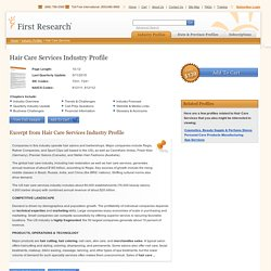Hair Care Services Industry Profile from First Research