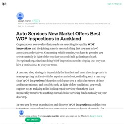 Auto Services New Market Offers Best WOF Inspections in Auckland