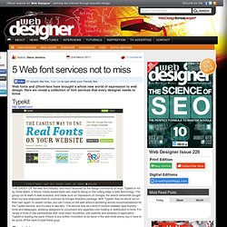 5 Web font services not to miss