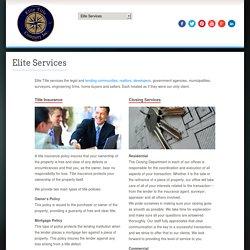 Elite Services – Premier Title Insurance Company, Siloam Springdale AR