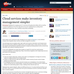 Cloud services make inventory management simpler