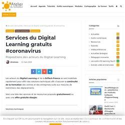 Services du Digital Learning gratuits #coronavirus
