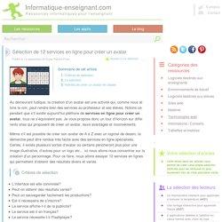 Intérêts de créer un avatar en classe - services en ligne
