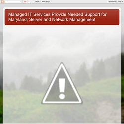 Managed IT Services Provide Needed Support for Maryland, Server and Network Management: Maryland SEO Web Marketing