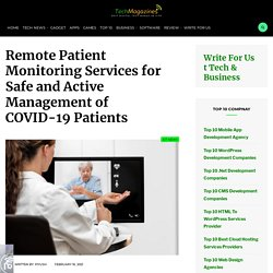 RPM Services for Safe & Active Management of COVID-19 Patients
