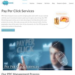 PPC Services - Pay Per Click Management Company : Technians