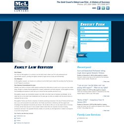 Family Law and De Facto Services Gold Coast