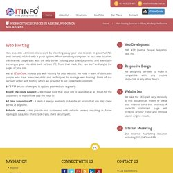 Web Hosting Services In Albury, Wodonga Melbourne