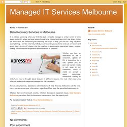 Managed IT Services Melbourne: Data Recovery Services in Melbourne