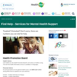 Singapore Mental Health Support (MHS) Hotline
