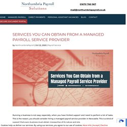 Services You Can Obtain from a Managed Payroll Service Provider