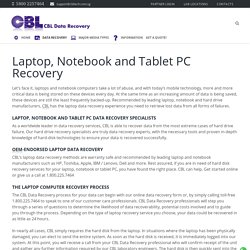 Notebook and Tablet Recovery Services Singapore