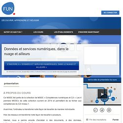 Données et services numériques, dans le nuage et ailleurs »