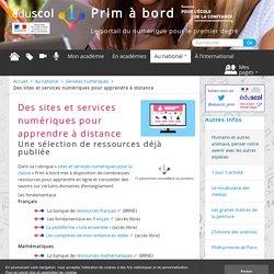 Des sites et services numériques pour apprendre à distance