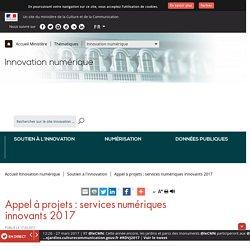 Appel à projets : services numériques innovants 2017