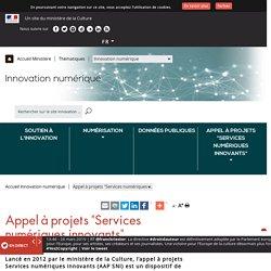 """Appel à projets """"Services numériques innovants"""""""