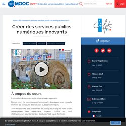 Créer des services publics numériques innovants