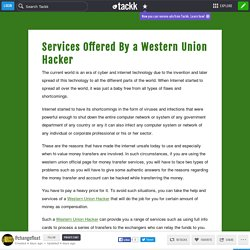 Services Offered By a Western Union Hacker