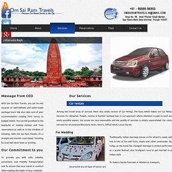 Services - Om Sai Ram Travels