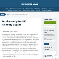 Services only for UK : Alchemy Digital