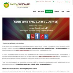 SMO Services Mumbai, Social Media optimization company in India