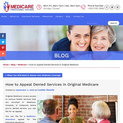 How to Appeal Denied Services in Original Medicare