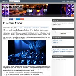 DJ Services Ottawa