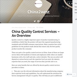 China Quality Control Services – An Overview