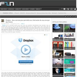 Dropbox : deux services pour permettre aux internautes de vous envoyer des fichiers
