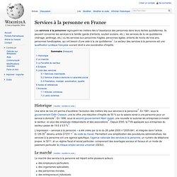 Services à la personne en France