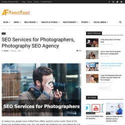 SEO Services for Photographers, Best SEO Agency for Photographers