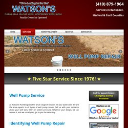 Water Well Service Jarrettsville MD