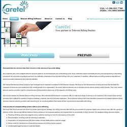 Postpaid Billing Systems for Telecom Provider