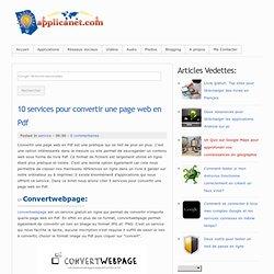 10 services pour convertir une page web en Pdf