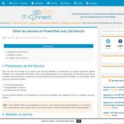 Gérer les services en PowerShell avec Set-Service