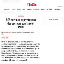 BTS SP3S - BTS services et prestations des secteurs sanitaire et social