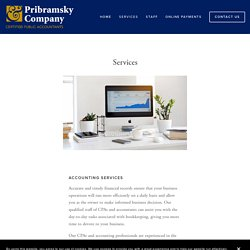 Services — Pribramsky & Co.