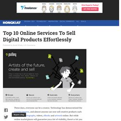 Top 10 Online Services To Sell Digital Products Effortlessly