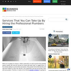 Services That You Can Take Up By Hiring the Professional Plumbers