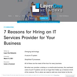 7 Reasons for Hiring an IT Services Provider for Your Business