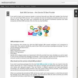 websamadhan: Bulk SMS Services – Hire Service Of Best Provider