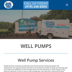 Mebane Well Pumps Services